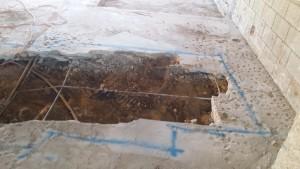 Repairing incorrect concrete slab installation