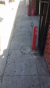 Pouring Concrete Sidewalk